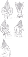 SH:: Pyramid Head Pin-ups by ChingChongChong