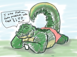 alligator doodle by Galvin-wolf