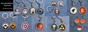 Fandom Bottlecap Keychains - Assorted by leighanief