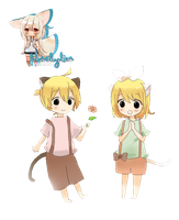 Kagamine Twins Render 02 by BlueSkyline16