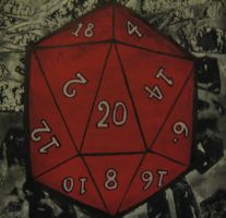 D20 Painting by paintmeaperfectworld