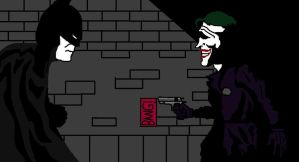 Batman vs. Joker by CrimsonHood