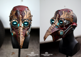 Arcane Steampunk plague doctor mask by TwoHornsUnited