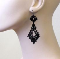 Baronyka Romance-Victorian lace earrings by baronyka