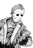 Jason Voorhees with Teddy Bear by phymns