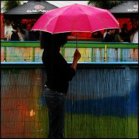 Little Pink Umbrella by Wodanislav