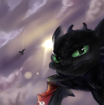 toothless fly with me bitch by rainbownebula-artist