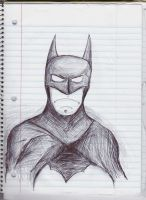 Pen Batman by UberBusBoy