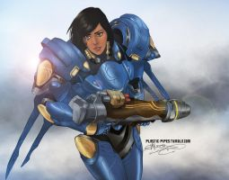 Pharah by plastic-pipes