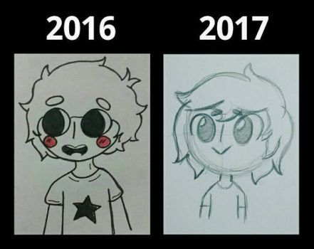 My art style 2016-2017 by SpaceChildHere