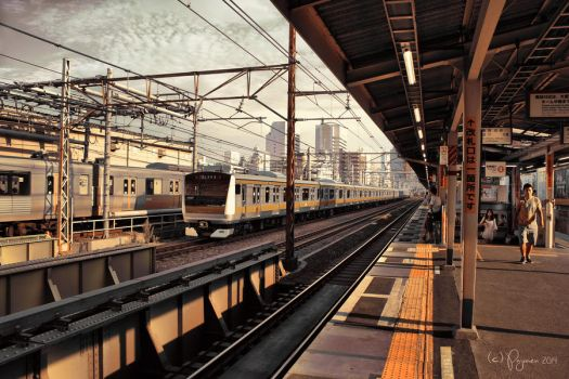 Shin-Okubo Station by Pajunen