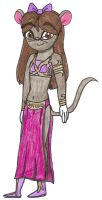 CW:RotJ - Mina in the slave girl outfit by Magic-Kristina-KW