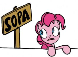 Pinkie Pie: STOP SOPA -with links- by Closer-To-The-Sun