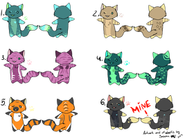 Cat Adoptables by Satuka
