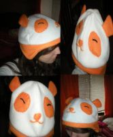 Orange Panda Hat by 42LifeIsForLiving42