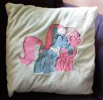 Spa Ponies - Embroidered Pillow by GrayTheZebra