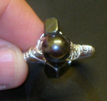 wire wrapped ring with hematite by faranway