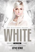 New Year White or Gold Party | Flyer + FB Cover by LouisTwelve-Design