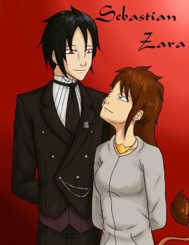 Sebastian and Zara. (Commission) by Pink--Reptile