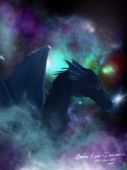 Space Dragon by Books-Music-Dragons