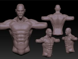 torso and head sculpt by StrainedEye