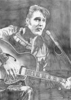 Elvis Presley 1968 SKETCH by Yankeestyle94