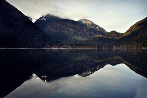 Alouette Lake Water Reflection by angela-swift