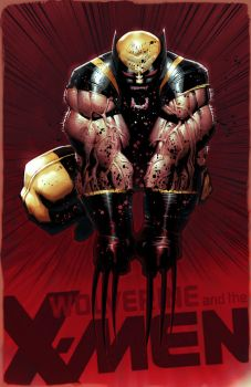 Townsend and Bachalo's Wolverine (My colours) by RawSunlight