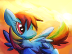 Colourful Sunset Dash by phlavours