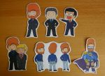 Late Night TV Hosts Sticker Set by ThePockyGirl