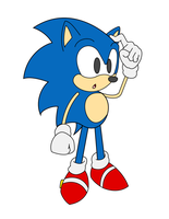 Flat Colored Classic Sonic by Hyperchaotix
