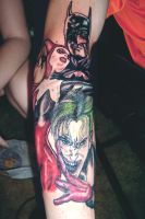 Batman Harley Quinn and Joker by Sp0okyOne