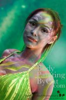 UV aurora dancer bodypaint by Bodypaintingbycatdot
