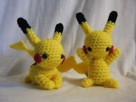 Pikachu Crocheted Doll by yourstarrysky