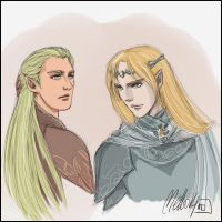 Haldir and Glorfindel by MellorianJ