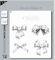 Object Pack - White Bows by MouritsaDA-Stock