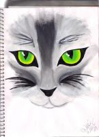 Cat Painting by XkoolXsoxX