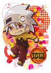 Comission_SOUL from Soul Eater for VermiculusLuna by HeavenRose150