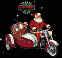 Santa en Harley by Real-Warner