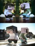 Internship Papertoys by miZter-maZe