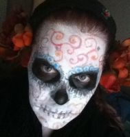 Sugar Skull Face by thecharmedmuse