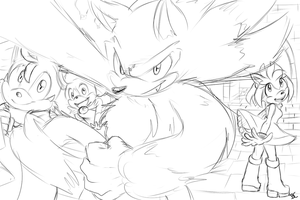 Werehog Wallpaper sketch by Mitzy-Chan