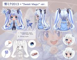 Snow Miku 2013 -Sweet Magic- by Next--LVL