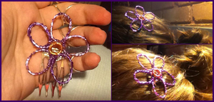 Wire Wrapped Hair Clip by Amazinadrielle