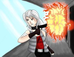 Out Running the Flames by LaZella