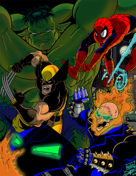 Colored Marvel Madness by superman200er0