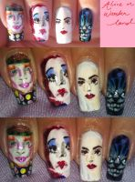 Alice in Wonderland nail art by amanda04