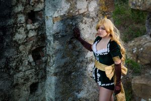 The castle is near by Elsa-Cosplay