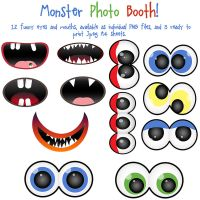 Monster Photo Booth Clip Art by AllThingsPrecious