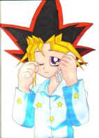 Sleepy Yugi by Pointyhairluv